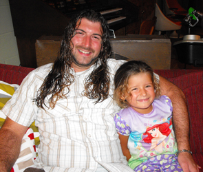 Dave with his daughter